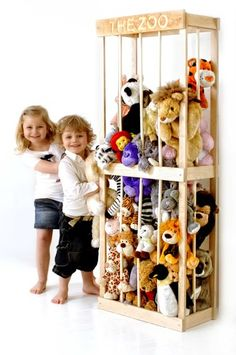 I need it to have hubby build this for all the Vegas, Disneyland, and Fair teddy pile!!! storag solut, storage solutions, storage for kids toys, soft toy, storage kids room, the zoo, kids toy room, kid room, toy storage