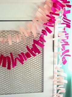 You Pick Two - Felt Fringe Party Garland - bunting, banner, birthday party, wedding, home decor, decoration, kids - shabby chic,, girl. $28.00, via Etsy.