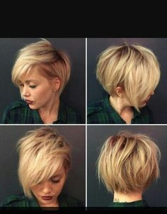 Short blonde asymmet