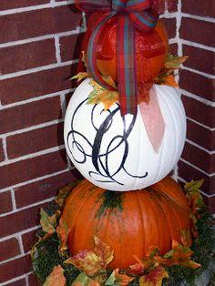 Lonestarlady: My Pumpkin Topiary~ fun idea, fall decor, pumpkin topiari, fall yall, fall topiari, topiaries, diy topiari, autumn fun