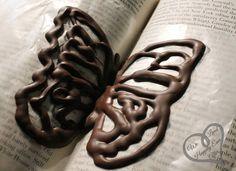 Tutorial - Chocolate Butterflies Using Wax Paper and Books!
