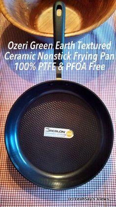 Ozeri Green Earth Textured Ceramic Nonstick Frying Pan. 100% PTFE & PFOA Free. #Ozeri #FryPan Pan Seared Pork Chop #Recipe