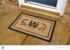 DIY Monogrammed Welcome Mat by Annie Williams - using her Silhouette