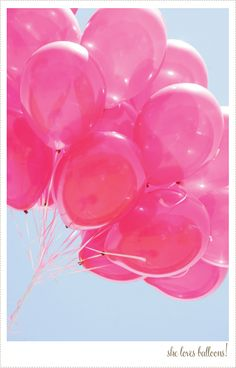 love pink balloons