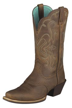 cowgirl boots | Ariat Legend Distressed Brown Cowgirl Boots