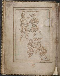 Physicians at work, late 12c. British Library Catalogue of Illuminated Manuscripts