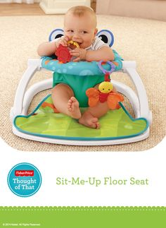 The Sit-Me-Up Floor Seat is a soft upright seat that lets babies see and interact with the world around them before they're able to sit up on their own. #Playtime #Fun #Activity