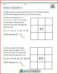 Magic Square 5, 5th grade math puzzles