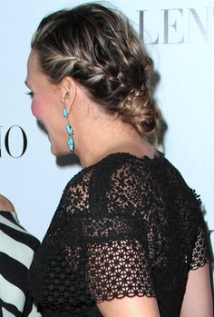 Molly Sims intricate braided chignon
