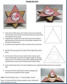 star card, idea, craft, shaped cards, paper, triangl star, star fold, jewish star, card tutorials