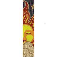 Instant Download Beading Pattern Peyote Stitch Bracelet Sleeping Sun Seed Bead Cuff