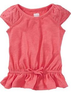 Scalloped-Eyelet Drop-Waist Tops for Baby | Old Navy
