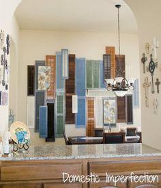 sugar wall, decor, project, idea, shutter wall