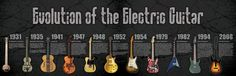 Evolution of the Electric Guitar Infographic done by DSM for Krank Amps.