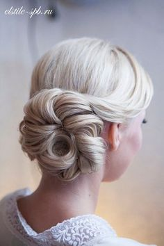 A little twist on the chignon - perfect for your bridesmaids