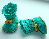 Crochet ugg boot pattern. PDF. This is a PATTERN for crocheted baby's booties - boots. Ugg (gray).. $3.99, via Etsy.