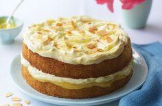 lemon and almond cake Lemon Cakes, Tesco Today, Cake Recipe, Simple Lemon, Layered Cake, Sponge Cake, Almond Cakes, Tesco Real, Real Food