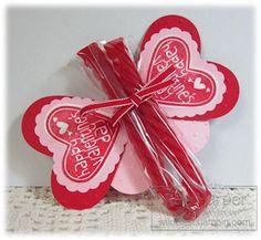 Red Vine Butterfly Valentine