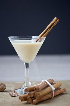 Cinnamon Bun Eggnog Martini      DaydreamerDesserts.com Prep time: 5 mins Cook time: 5 mins Total time: 10 mins Serves: 2 Ingredients  4 ounces Cinnamon Bun Bite infused vodka   4 ounces non-alcoholid eggnog   2 ounces Irish cream liquor   Instructions  Combine ingredients into a cocktail shaker filled halfway with ice.   Shake for 30-40 seconds and pour into chilled martini glasses.   Garnish with a cinnamon stick or skewered Cinnamon Bun Bites   Notes  For the Cinnamon Bun Bite infused vodka. Combine 6 ounces good quality vodka and 1/4 cup Cinnamon Bun Bite candies in a clean mason jar. Close jar tightly and store in a cool dry place for 3-7 days. Give it a good shake once or twice per day.    2.1.7