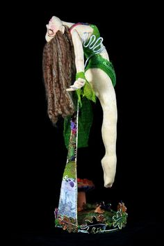 Cloth Art Doll  Forest Floor Ascending OOAK Artist by themagicbean, $200.00