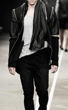 David Andersen - SS2013 david andersen, style, runway, men fashion, andersen ss13, boy, man, black