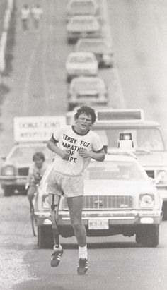 Terry Fox. What a great story. #Terry #fox #inspiration #cancer #amputee #marathon #hope