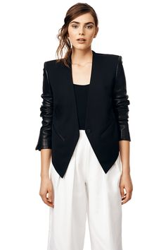 Rent Smoking Wool Tuxedo Blazer by Helmut Lang for $100 only at Rent the Runway.