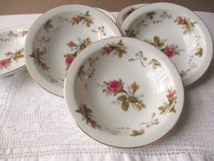 Vintage Summit Moss Rose Berry Bowls Set of Six  by thechinagirl, $28.50
