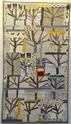 Diconnection Trees by Blandina Daria, Italy.  Mary & Patch: Carrefour Européen du Patchwork, St-Marie, France, 2