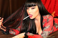 Avena Lee - DragginLadies Asian Brunette Smoking Fetish Cigarette