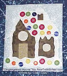 #Gingerbread House #quilt