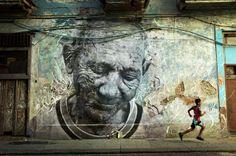 JR  & José Parlá, The Wrinkles of The City, Havana CubaAlfonso Ramón Fontaine Batista (2012)