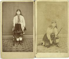 "Two CDV's of legendary,Kady Brownell. Her war records include Bull Run and others, which ""she was in the thick of each of those battles"" and was unofficial color bearer for 1st R.I. Militia."