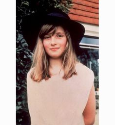 A young Lady Di...love her hat!
