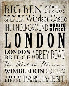 London - Free art download printable