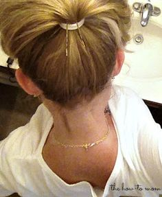 how to make your ponytail pop with two little bobby pins!