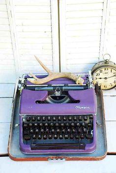 violet typewriter