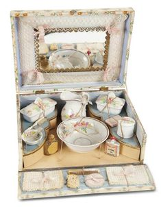 French Toilette Set in Original Presentation Box c. 1890