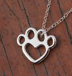 Paw Heart - Silver