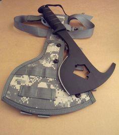 US Military Army Ontario Knife Co Survival Combat Axe Spax w/ACU Sheath USGI