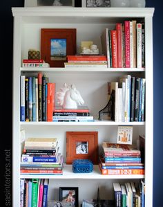 A breakdown on how-to style a bookcase. Inspiration tips and ideas on how and where to begin accessorizing a bookcase or shelf in your home by @Jenna_Burger #styling #decorating
