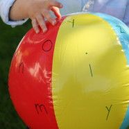 Phonics 2- Letter-Sound Recognition- Take a beach ball and write the letters from A to Z with a permanent marker (be sure to space the letters). Play a simple game of toss with your child. Whichever letter your child's hand touches he/she must make the letter sound of that letter. As your child advances you can change the game to reach your child's learning level.
