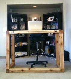 DIY standing desk/drafting table instructions #standingdesk