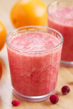 Vitamin C Booster Cranberry Orange Smoothie by gi365 #Smoothie #Healthy #Cranberry #Orange