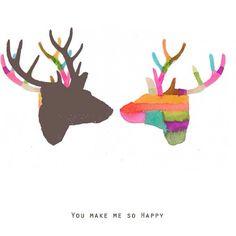 Deer/ antler art etsy