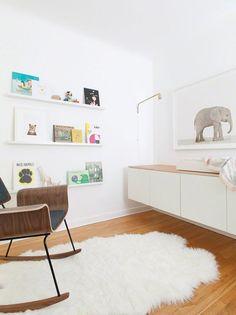 Modern nursery by Morgan Satterfield and The Animal Print Shop - HabitatKid blog
