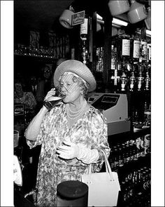 """Hitler called her """"The most dangerous woman in Europe."""" At The Queens Head pub in Stepney, in London's East End, Her Majesty Queen Elizabeth The Queen Mother enjoyed a pint of bitter, which she pulled herself. (That's the much-missed late mother of QE II, who famously refused to leave London during the Blitz, or even to send her daughters to the safety of Canada, saying """"""""The children won't go without me. I won't leave the King. And the King will never leave."""""""