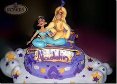 Aladdin Cake  smallwordbigfun.com   #disney #disneycakes