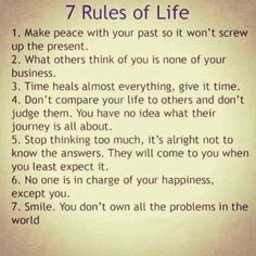 7 rules in life