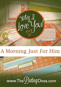 A Morning Just For Him- what a sweet idea!